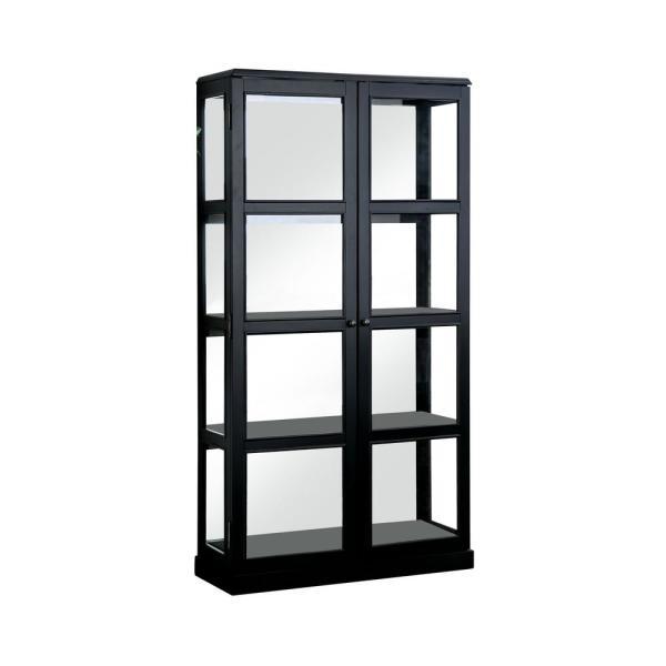 Camila Metal Cabinet In Black Glass Cabinet Doors Metal Cabinet Shelving