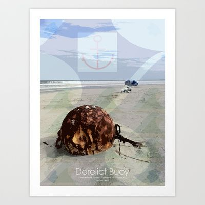 Derelict Buoy Art Print by C.E.Frusher - $20.00
