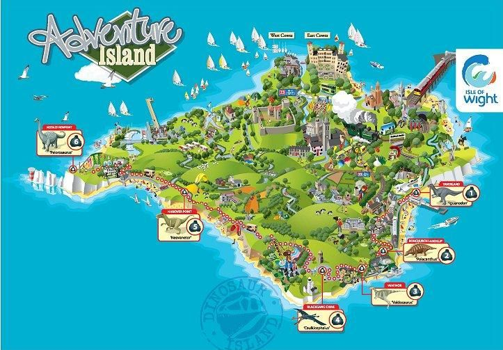 Isle of Wight Adventure Island Map  Scapes  Landscapes