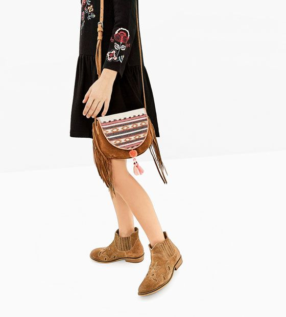 FRINGED SPLIT SUEDE CROSSBODY BAG (With images) | Toddler ...