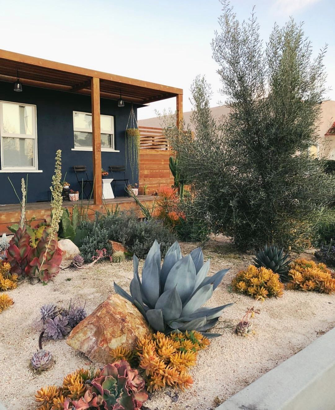 We Have A Couple Of Sunny Days In The Forecast Which Means It S Time To Work On The Front Yard I Xeriscape Front Yard Desert Landscape Front Yard Front Yard