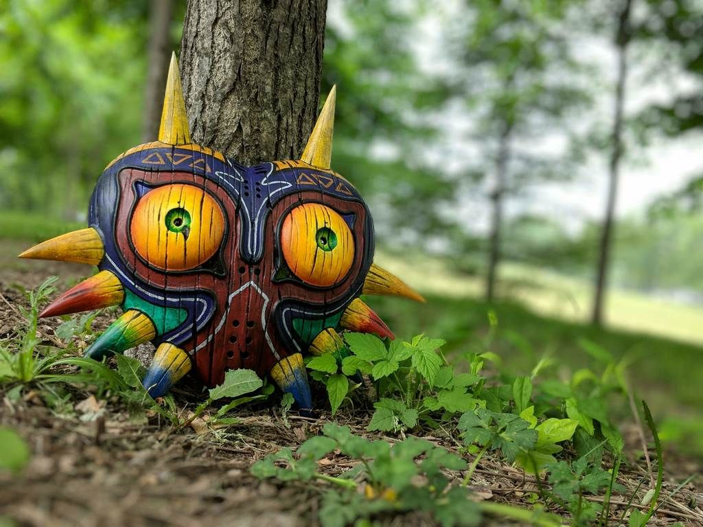 Majora's Mask (full size) with wall mount by lv99doge - Thingiverse