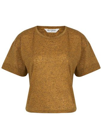 Ochre Salt and Pepper Boxy Tee - Clothing  - New In