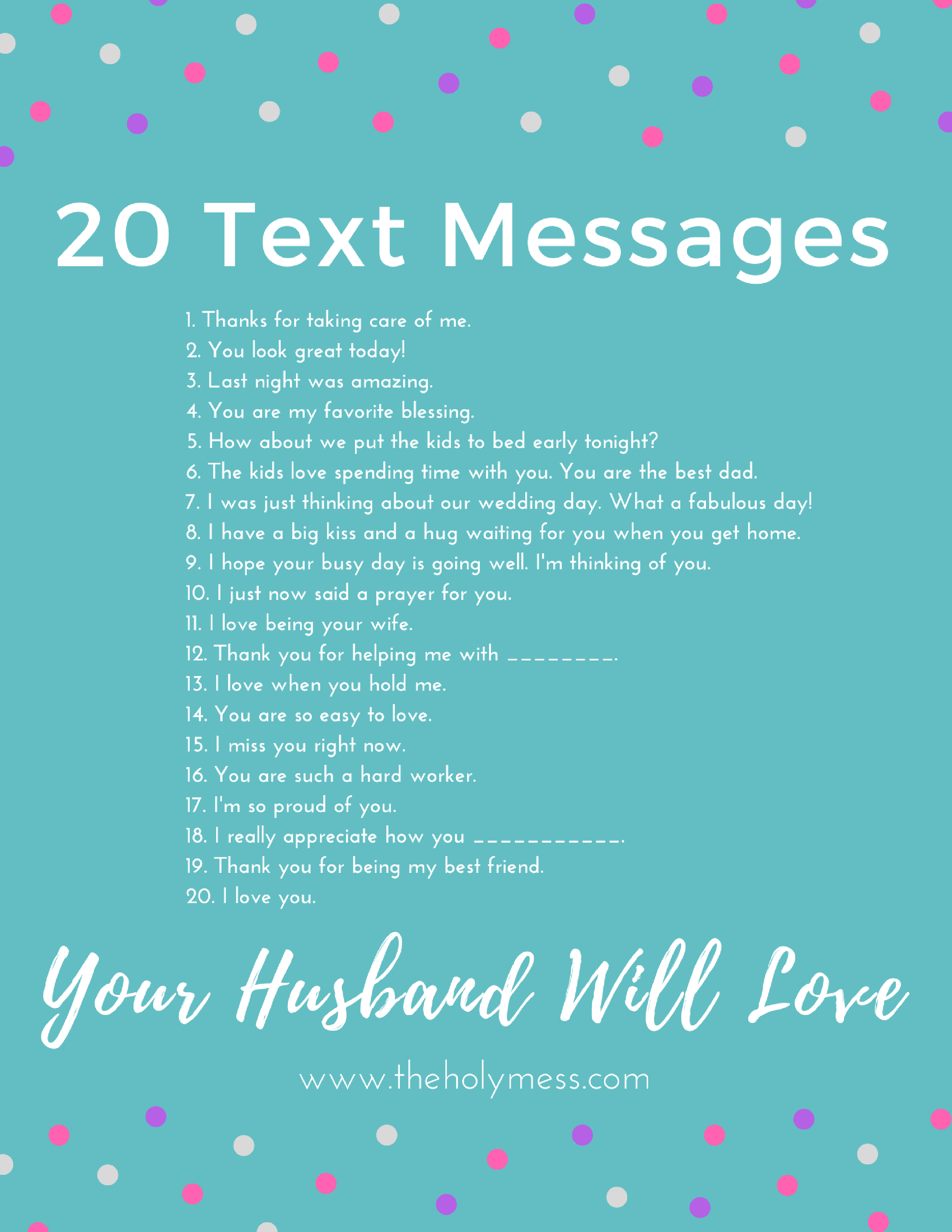 20 text messages your husband will love texts messages and 20 text messages your husband will lovethe holy mess buycottarizona Image collections