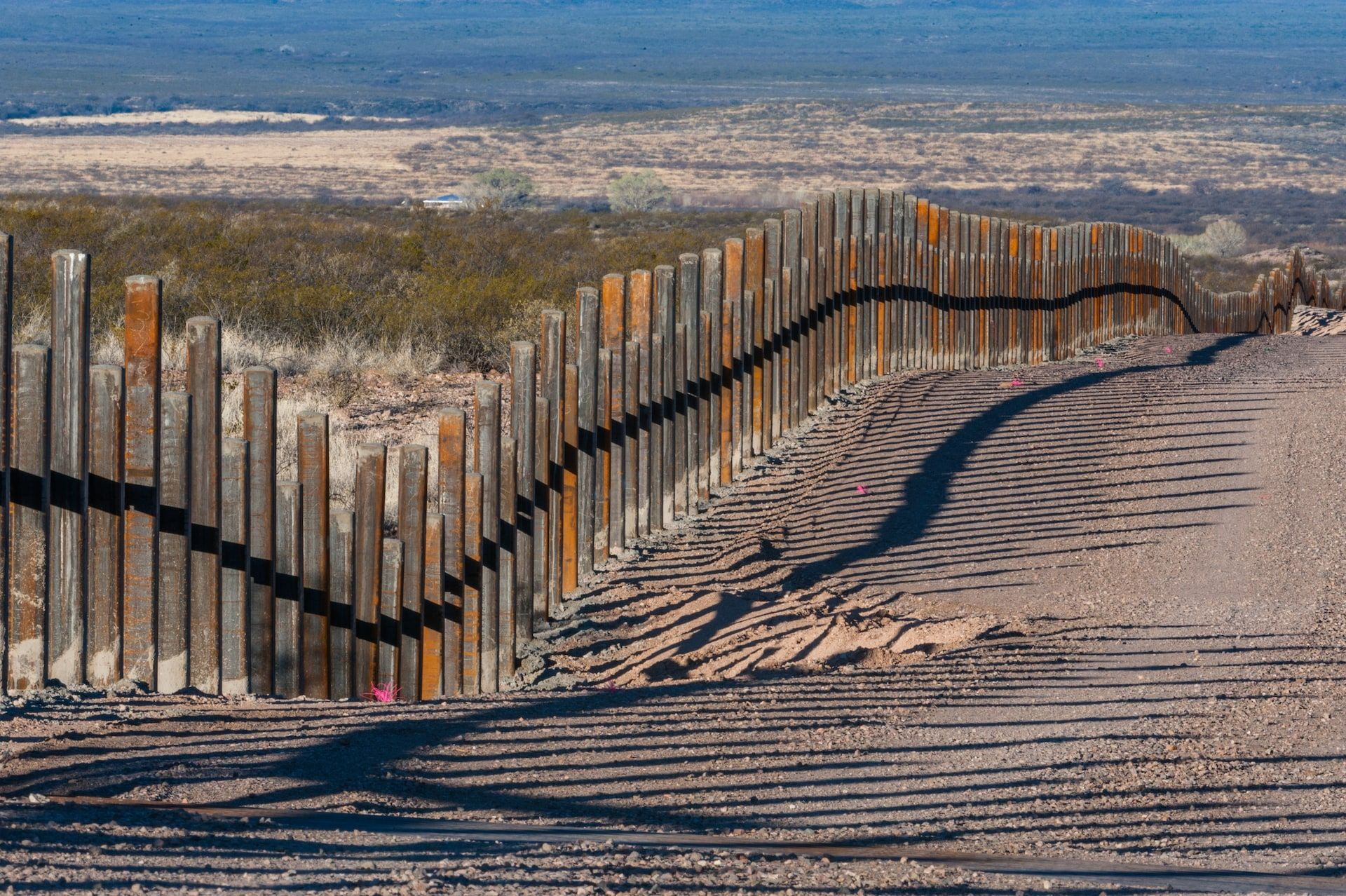 the existing border fence in arizona border mexican on border wall id=22820