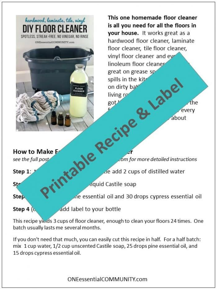 Forest Fresh Floor Cleaner Essential Oils Essential Oils - Streak free tile floor cleaner recipe