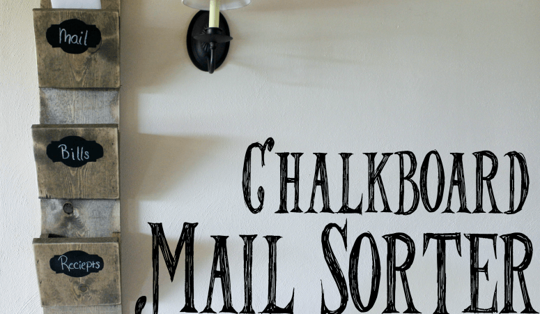 Bills, notices, invitations! We receive so many important things through the mail, but usually end up just tossing it in a pile on the counter. That doesn't have to be the case with this DIY chalkboard mail sorter. Get the full tutorial here!