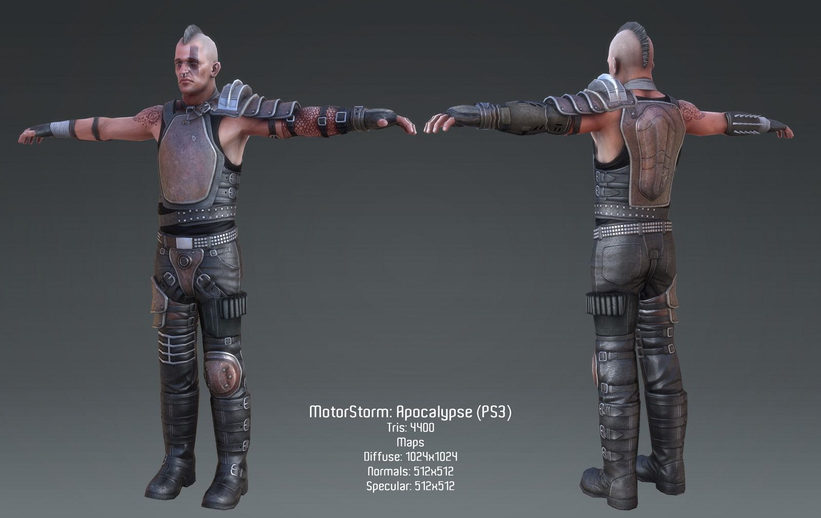 Motorstorm: Apocalypsee  - Male Character 01, Saleh Ahmed on ArtStation at https://www.artstation.com/artwork/LkL6A