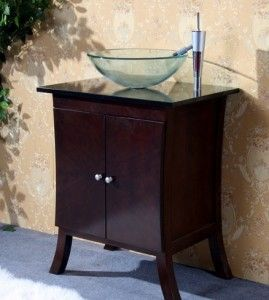 Legion Asian Inspired Single Vanity With Vessel Sink; No Rice Paper Style  Face,