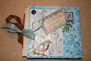 Journal made with family history artifacts