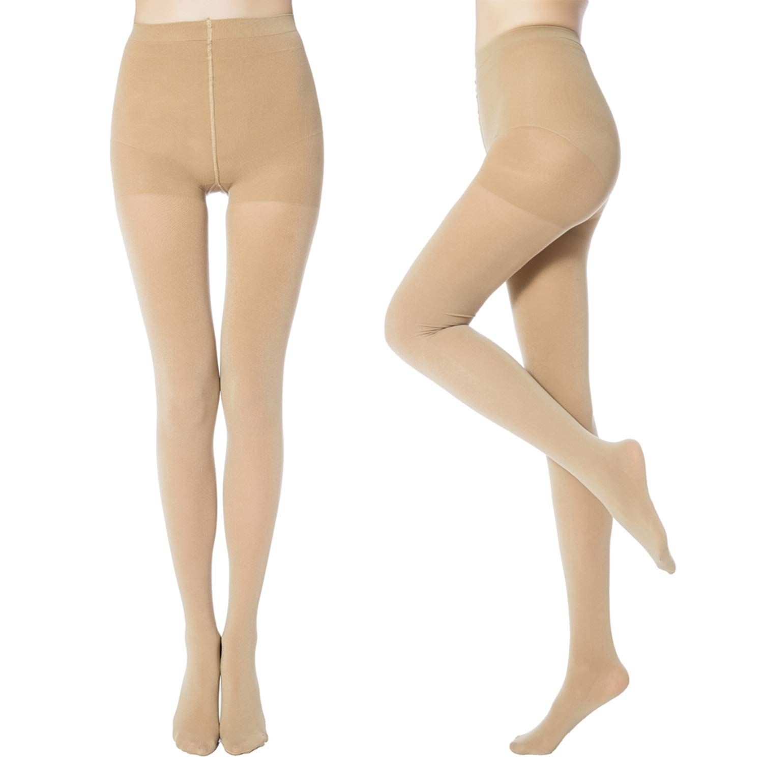 7ab601865 MANZI Women s 2-6 Pairs Opaque Control-Top Tights 70 Denier ...