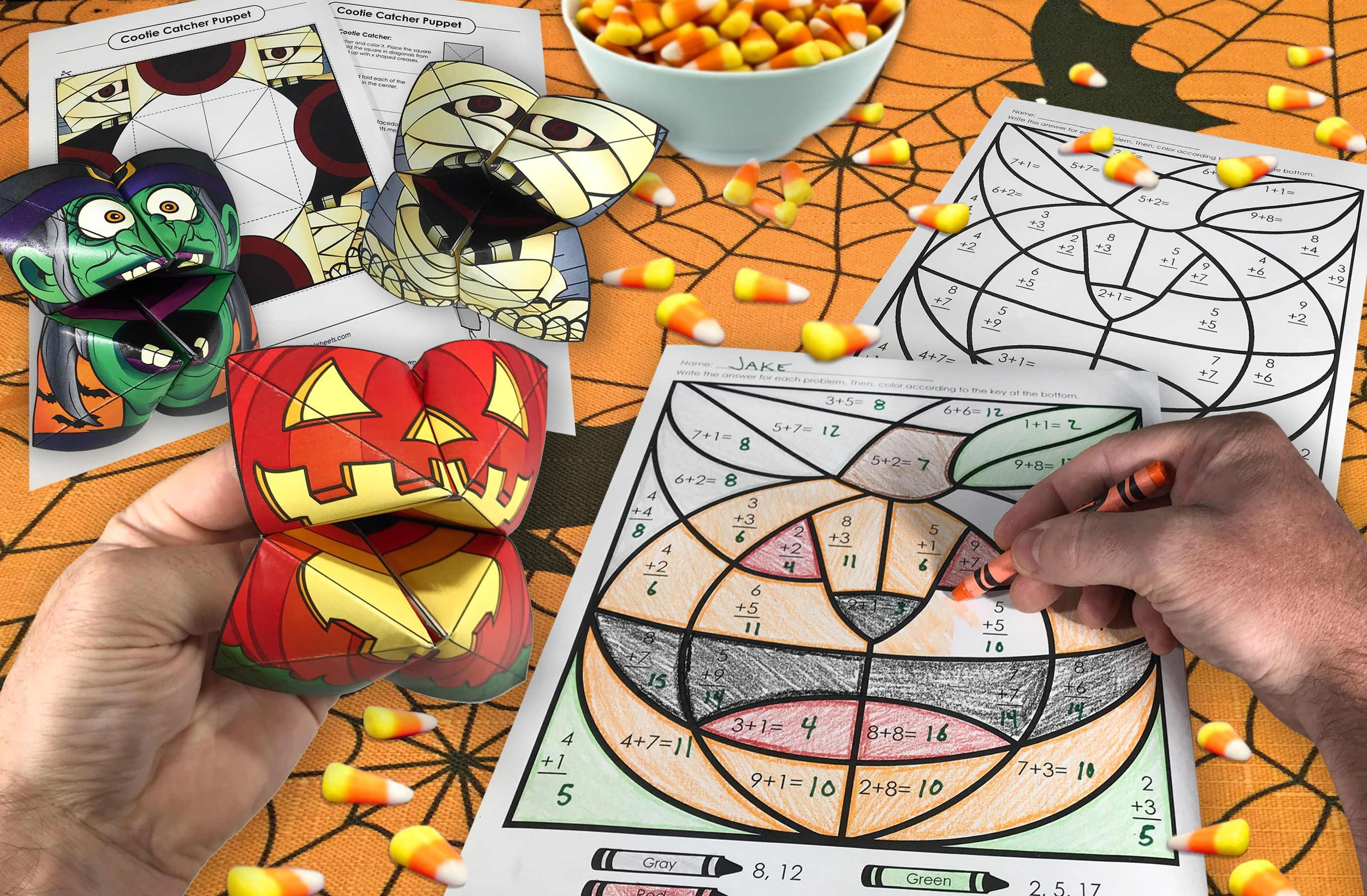 Print Out Halloween Cootiecatchers Mathmysterypictures