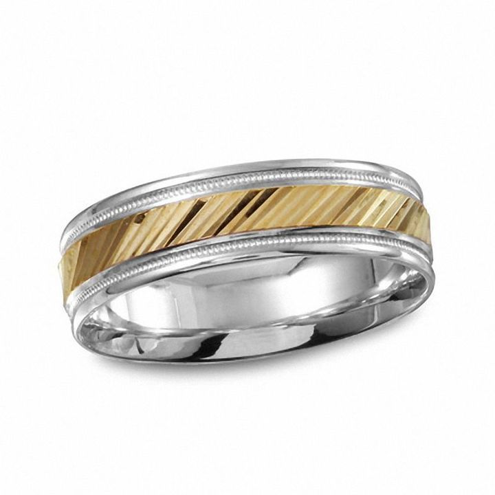 Zales Mens 6.0mm Hammered Titanium Ring (17 Characters) RfpUz2if