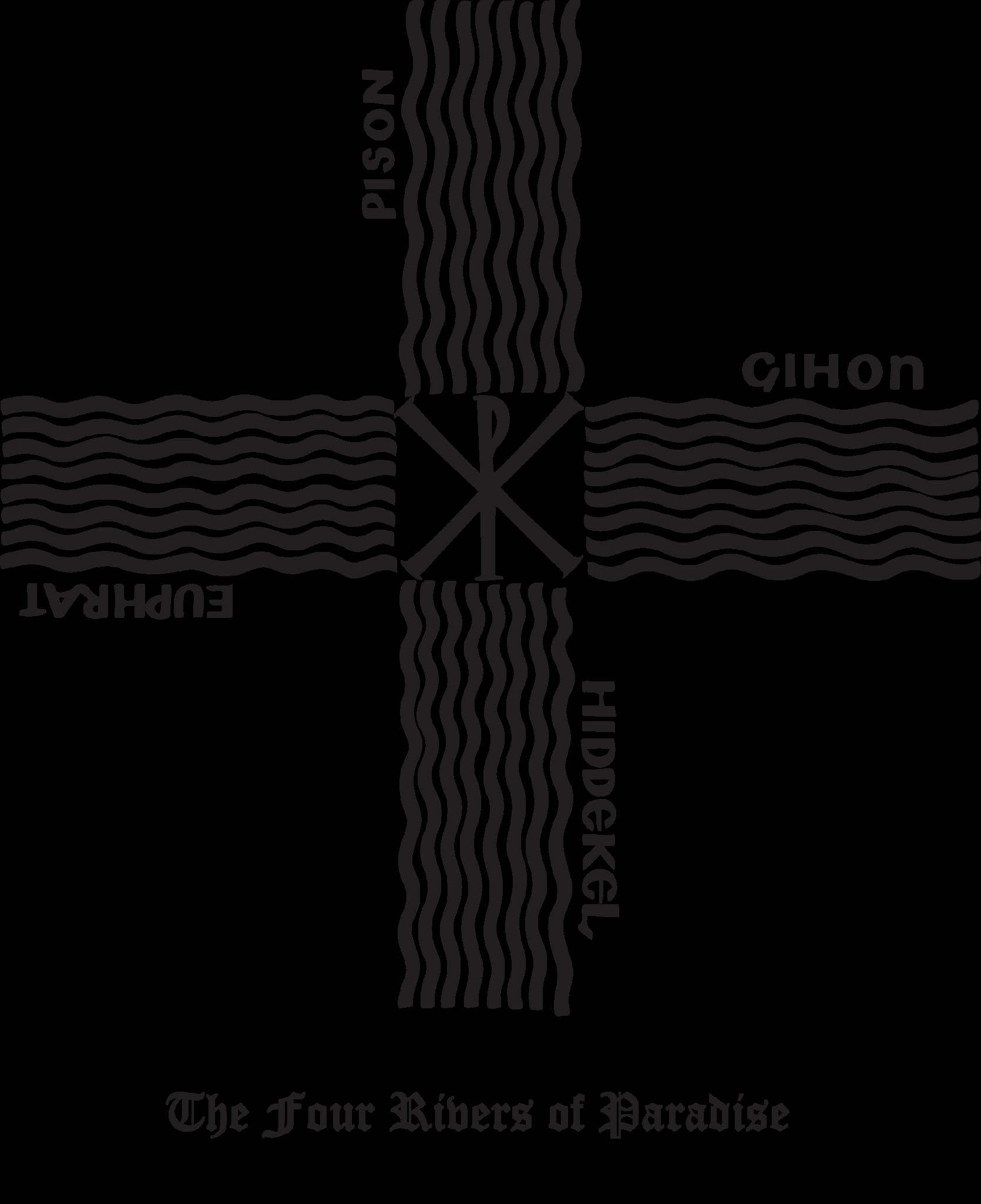 Rudolf koch christian symbol 104 4 rivers of paradise rudolf koch christian symbol 104 4 rivers of paradise symbols and hand drawn biocorpaavc Gallery