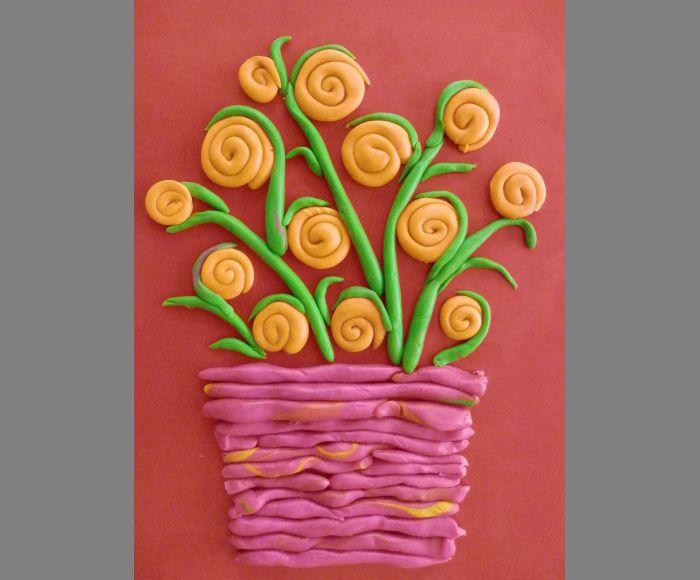 Открытка к 8 марта пластилиновые розы презентация
