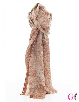 Echarpe Flower Camel #Tantra #Cold #Goodfashion
