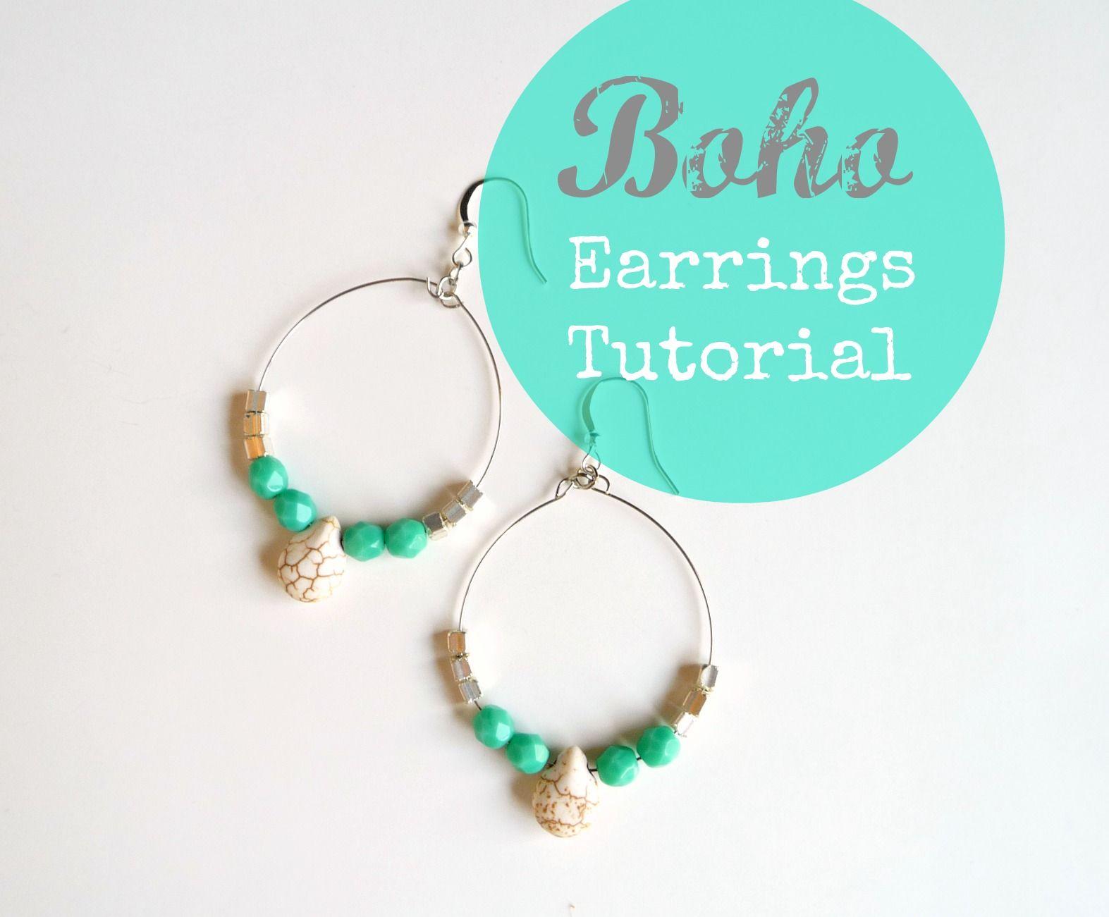 boho earrings jewelry tutorial | Jewelry Wire | Pinterest