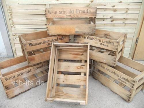 Leere Weinkiste Aus Holz Mit Schriftzug Z B 6 Kisten Inkl Versand Ab 49