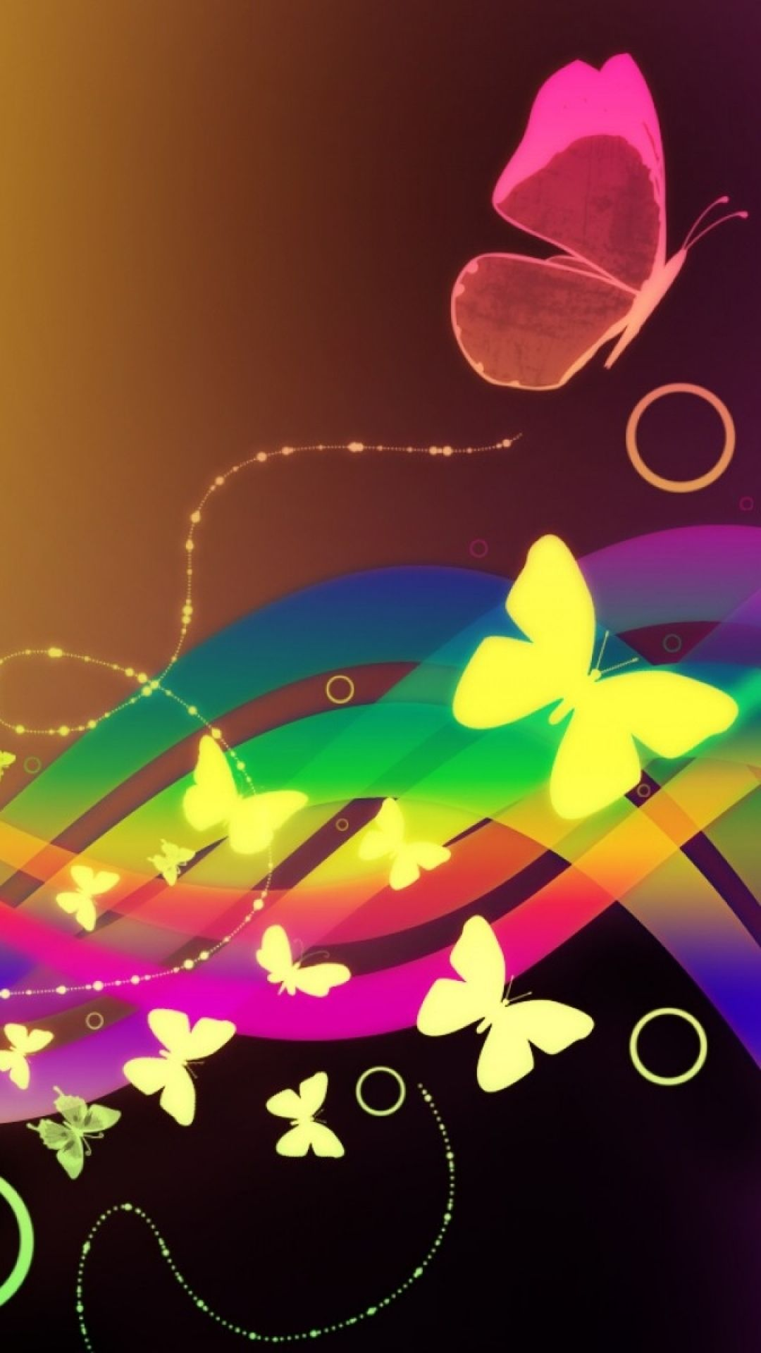 Patterns Waves Butterfly Colorful #Iphone #6 #Wallpaper
