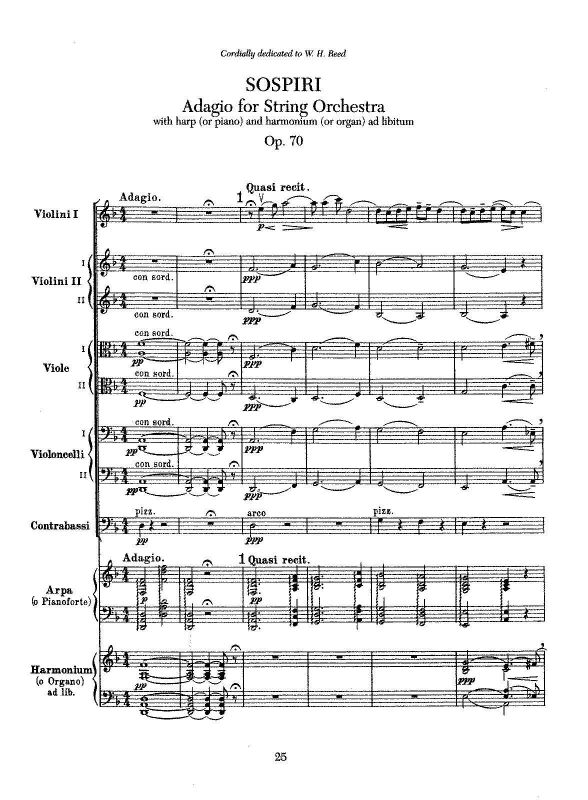 Sospiri, Op 70 (Elgar, Edward) - IMSLP/Petrucci Music Library: Free