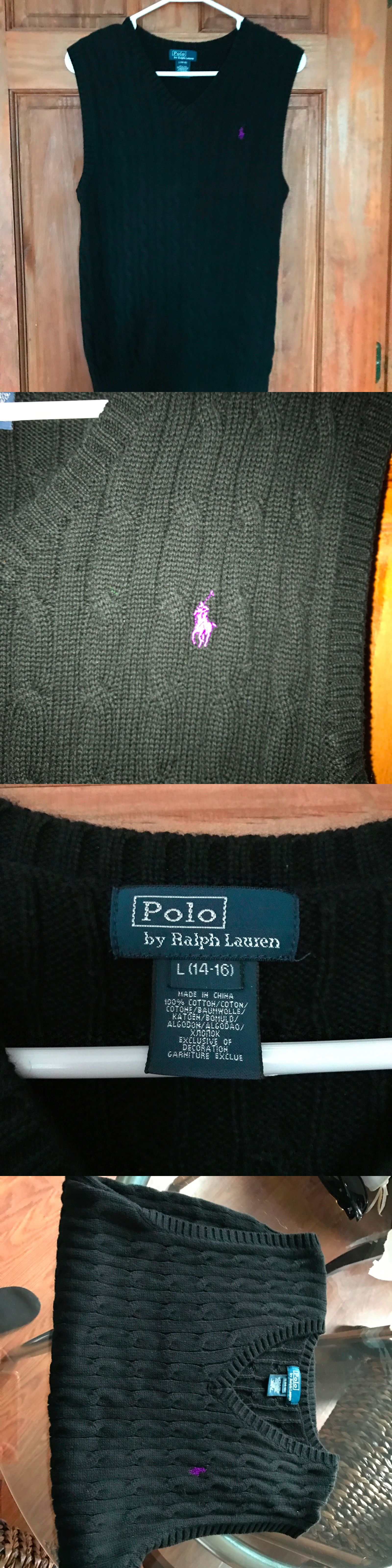 Sweaters 51946: Boys Ralph Lauren Polo Cable Knit Sweater Vest ...
