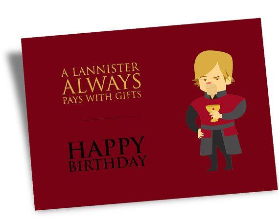 Printable Digital HAPPY BIRTHDAY Game Of Thrones Card