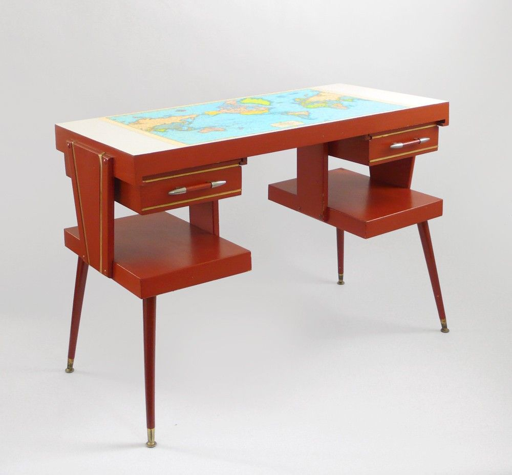 Mad for mid century mid century desk with world map top mid mad for mid century mid century desk with world map top gumiabroncs Image collections