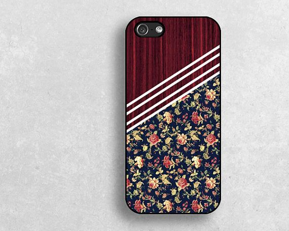 floral pattern iPhone 5 5s 5c Cases Hard Plastic by janicejing, $8.99