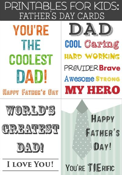 Printables For Kids Free Printable Father S Day Cards Father S Day Printable Fathers Day Cards Father S Day Card Template