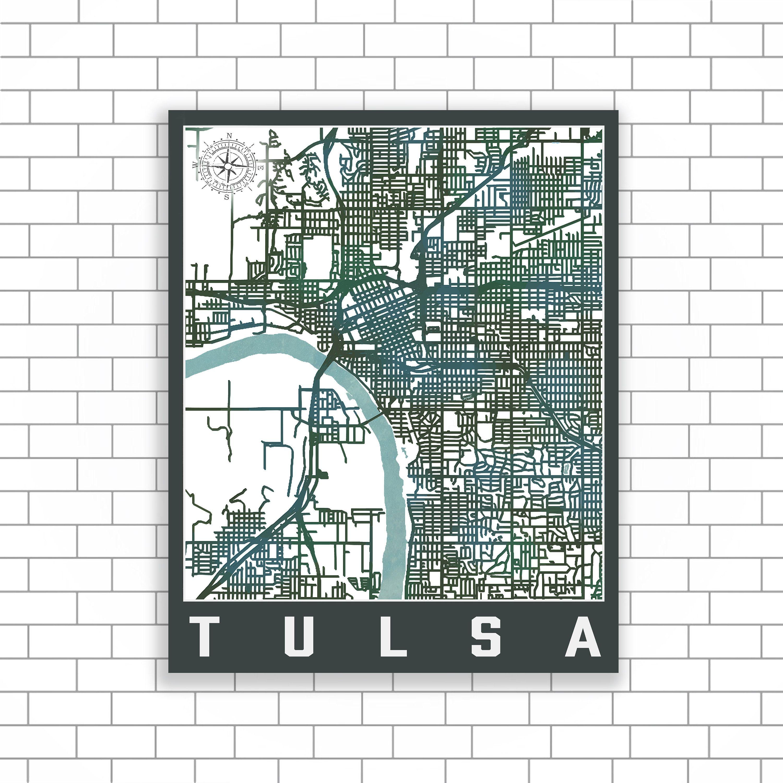 Tulsa Oklahoma Tulsa Street Map Tulsa City Map Street Map City