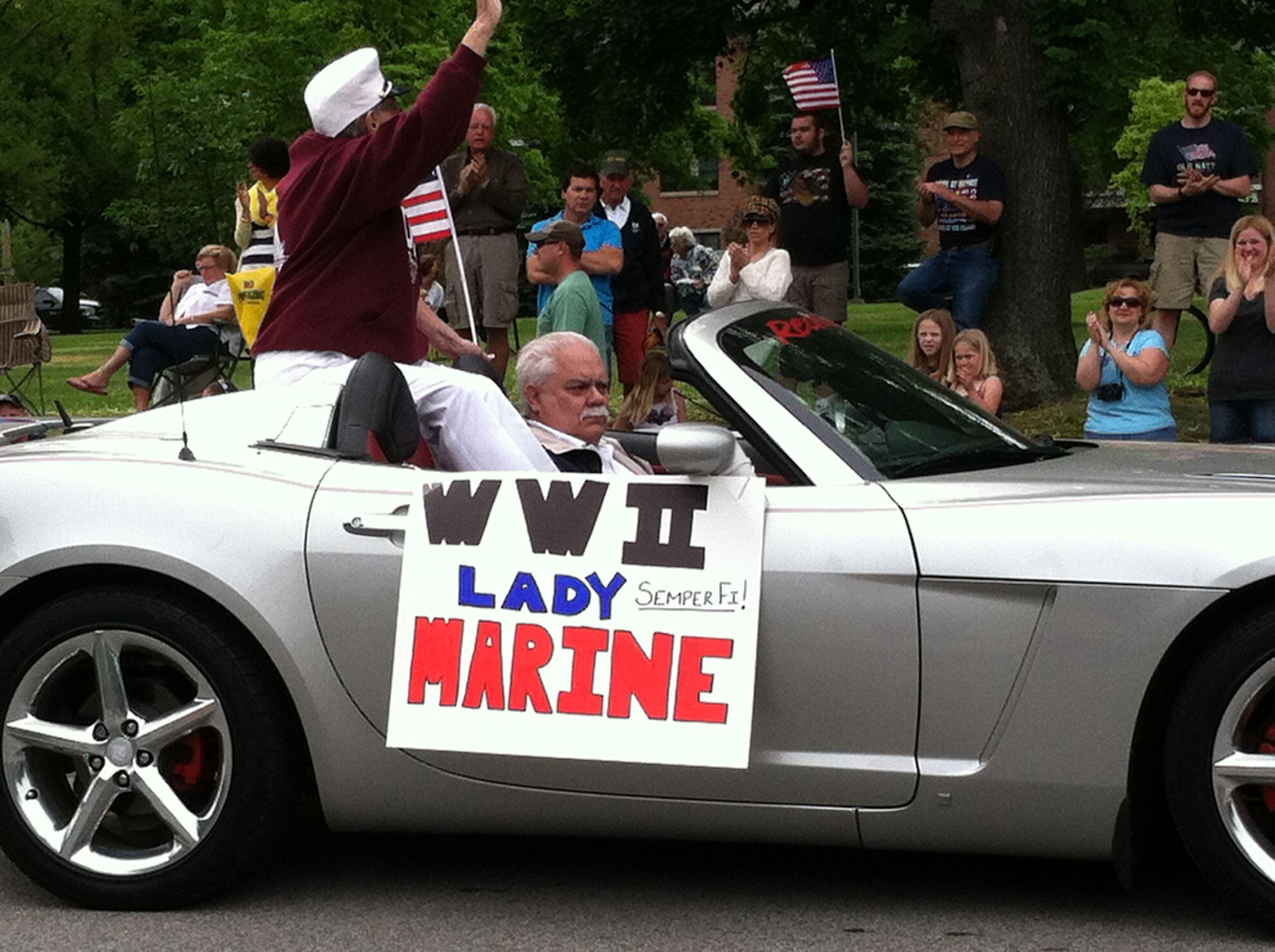 WWII lady marine Memorial Day 2013