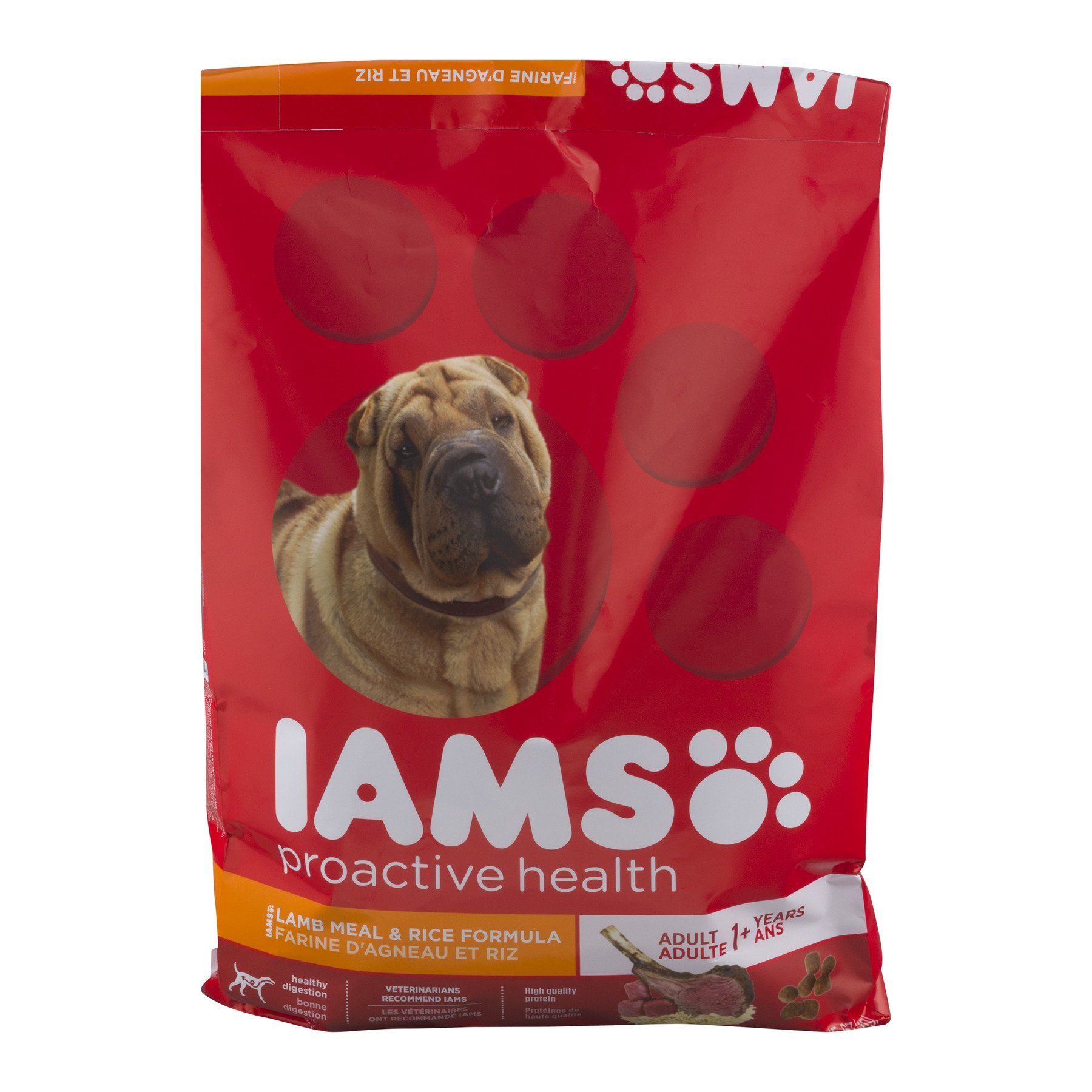 Iams Proactive Health Adult With Grass Fed Lamb Dry Dog Food 12 5