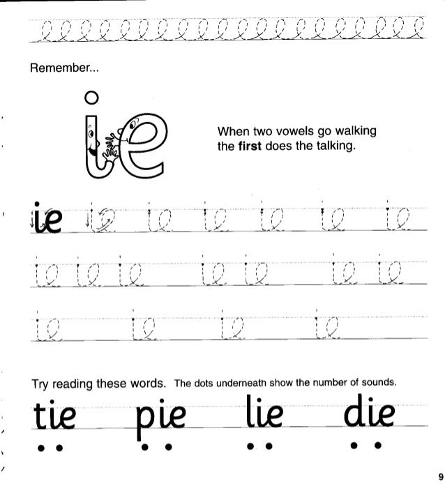 Jolly Phonics Workbook 4 Ai J Oa Ie Ee Or Jolly Phonics Phonics Phonics Words