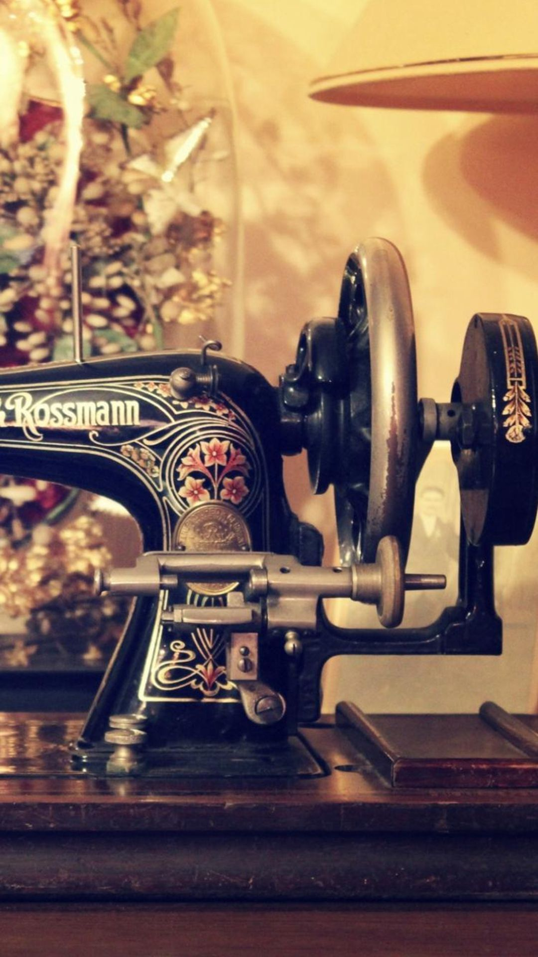 Retro Sewing Machine Table IPhone 6 Plus Wallpaper