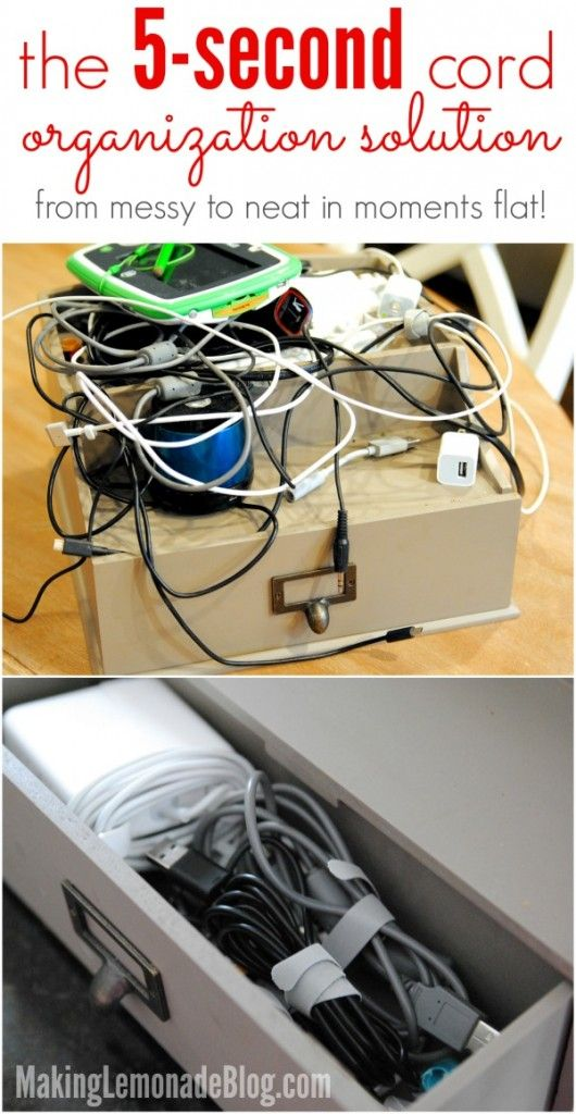 Are cords, wires, and electronics taking over your home? This neat trick  will