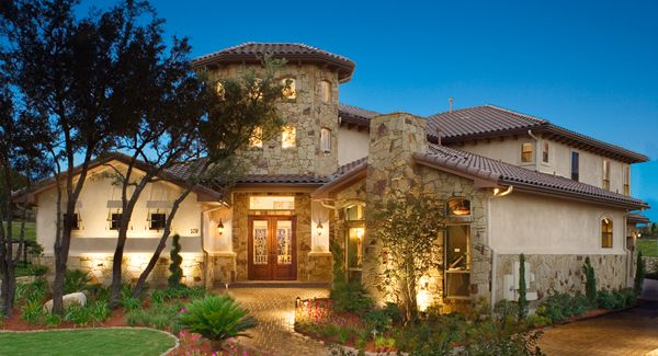 This Gorgeous Mediterranean Home By The House Designers Features Plenty Of Inspiring Interior Photographs Tuscan House Plans Tuscan House Mediterranean Homes