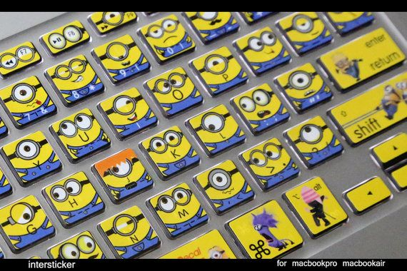 Macbook air keyboard decal - MINIONS!!!! p.s: I KNOW THAT YOU WILL LIKE THIS SOPHIE!!