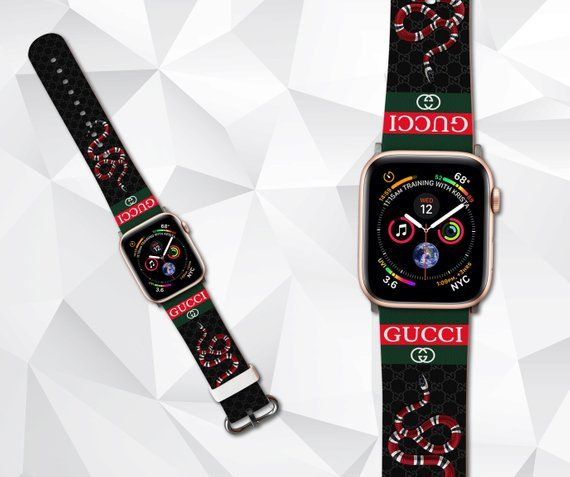 19b3d769796 inspired by Gucci iWatch band 42mm Apple watch band Apple watch Watch band  Black Apple watch 44 mm 4