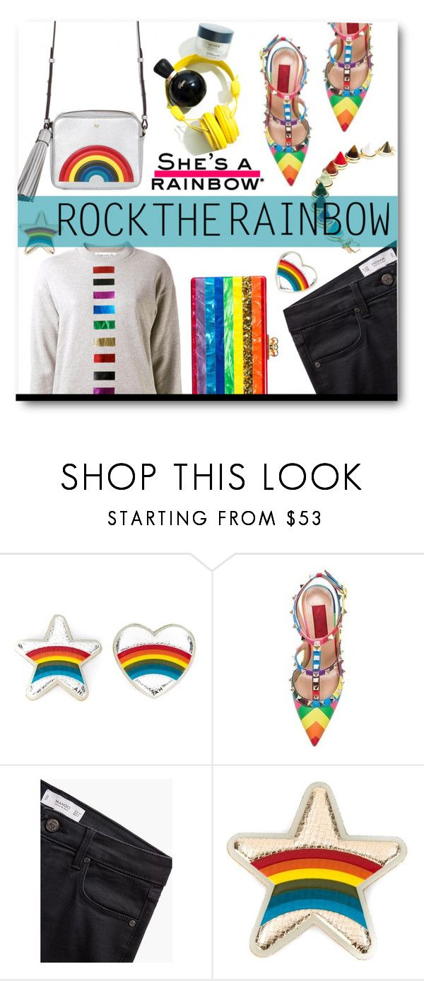 """""""Rock The Rainbow She's The Rainbow"""" by voguefashion101 ❤ liked on Polyvore featuring Anya Hindmarch, MANGO, women's clothing, women's fashion, women, female, woman, misses and juniors"""
