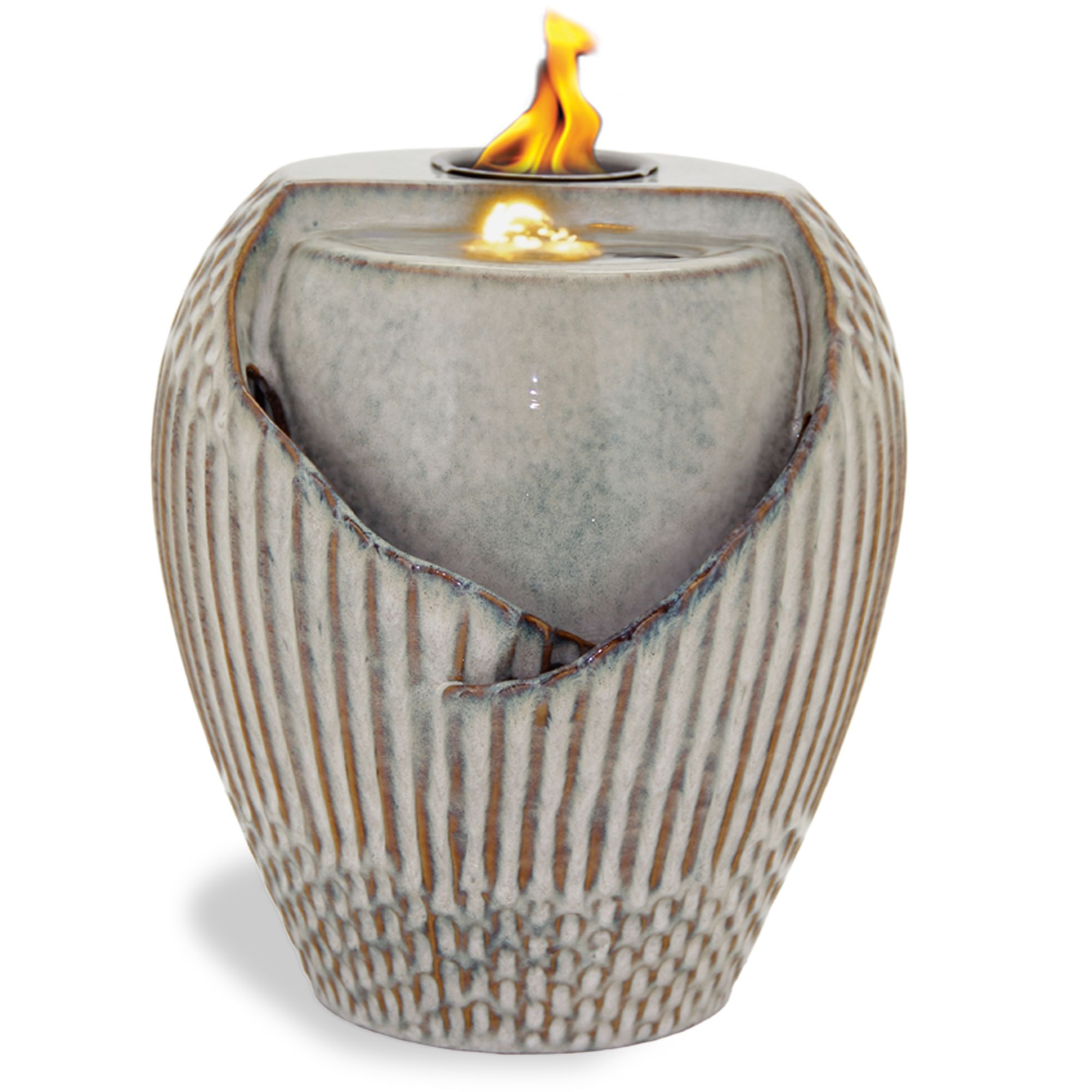 Urn Flame Fountain Kmart With Images Fountains For Sale