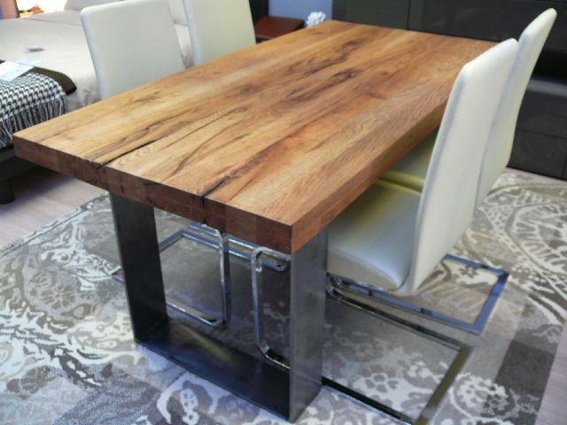 Tavoli in legno grezzo tavoli in vetro per cucina - Epierre