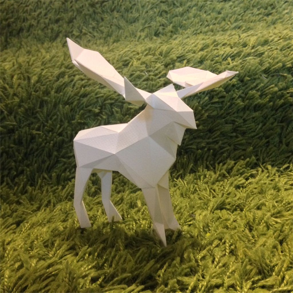 Low Poly Deer Papercraft (Free Template)