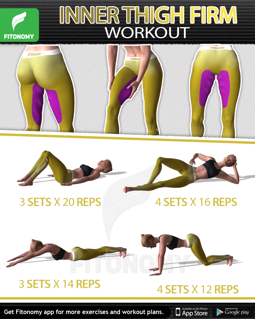 Do these four exercises three days a week and you'll start seeing toned thighs in no time.  #fitness...