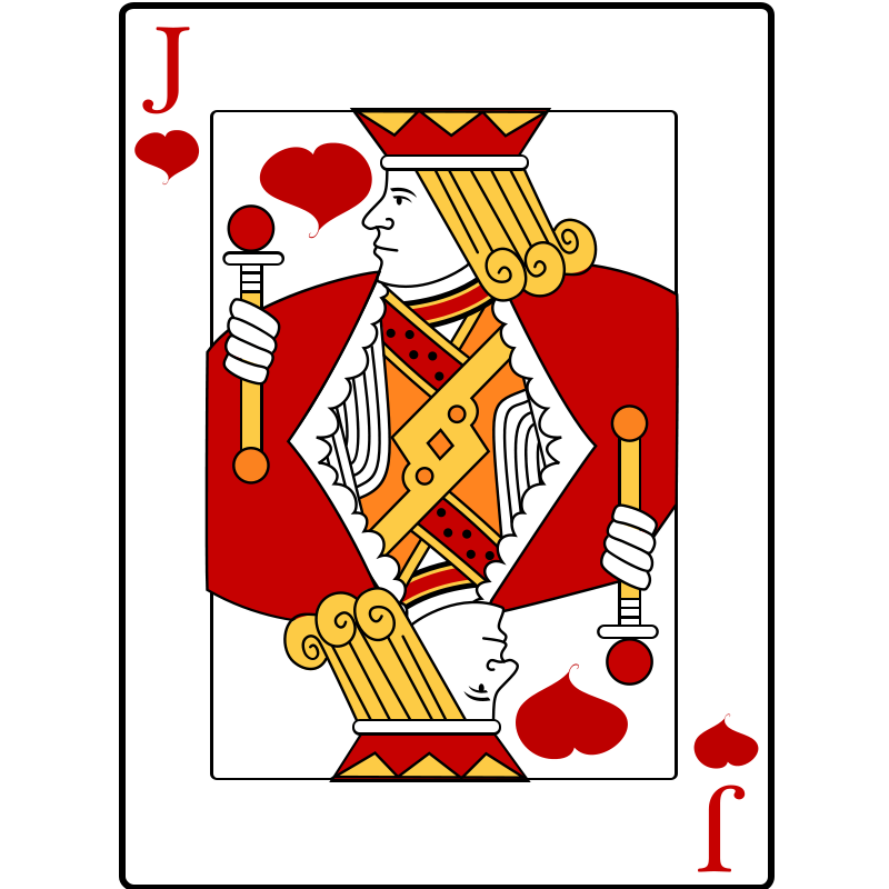 playing cards Free Jack of Hearts Playing Card Clip Art