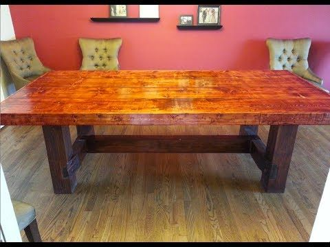 ▷ How To Build A Farmhouse Kitchen Table  Complete And Easy Plan Fair Building Dining Room Table Decorating Design