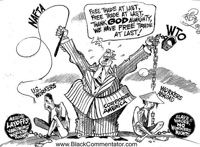 Free Trade At Last Political Cartoons Political Satire The Twits