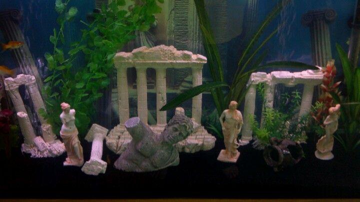Love That Black Gravel Really Makes The Ruins Pop Aquarium