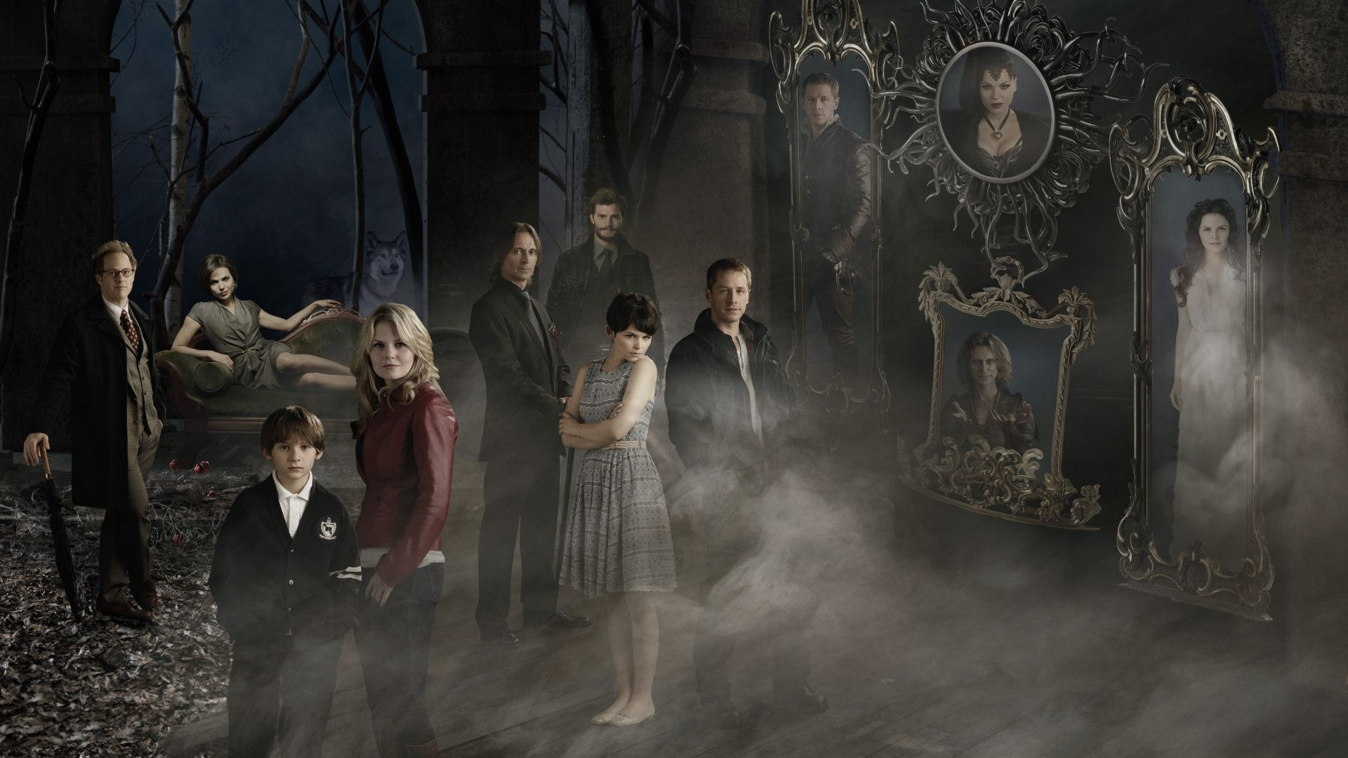 Once Upon A Time Season 1 Cast Once Upon A Time Widescreen Wallpaper Image