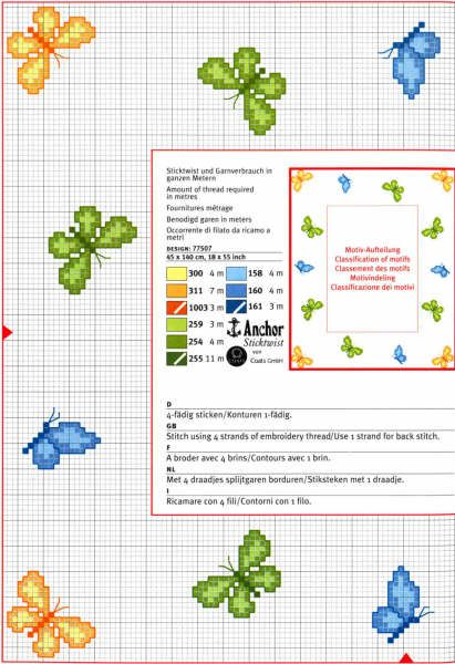 Risultati immagini per piccole farfalle a punto croce for Farfalle a punto croce