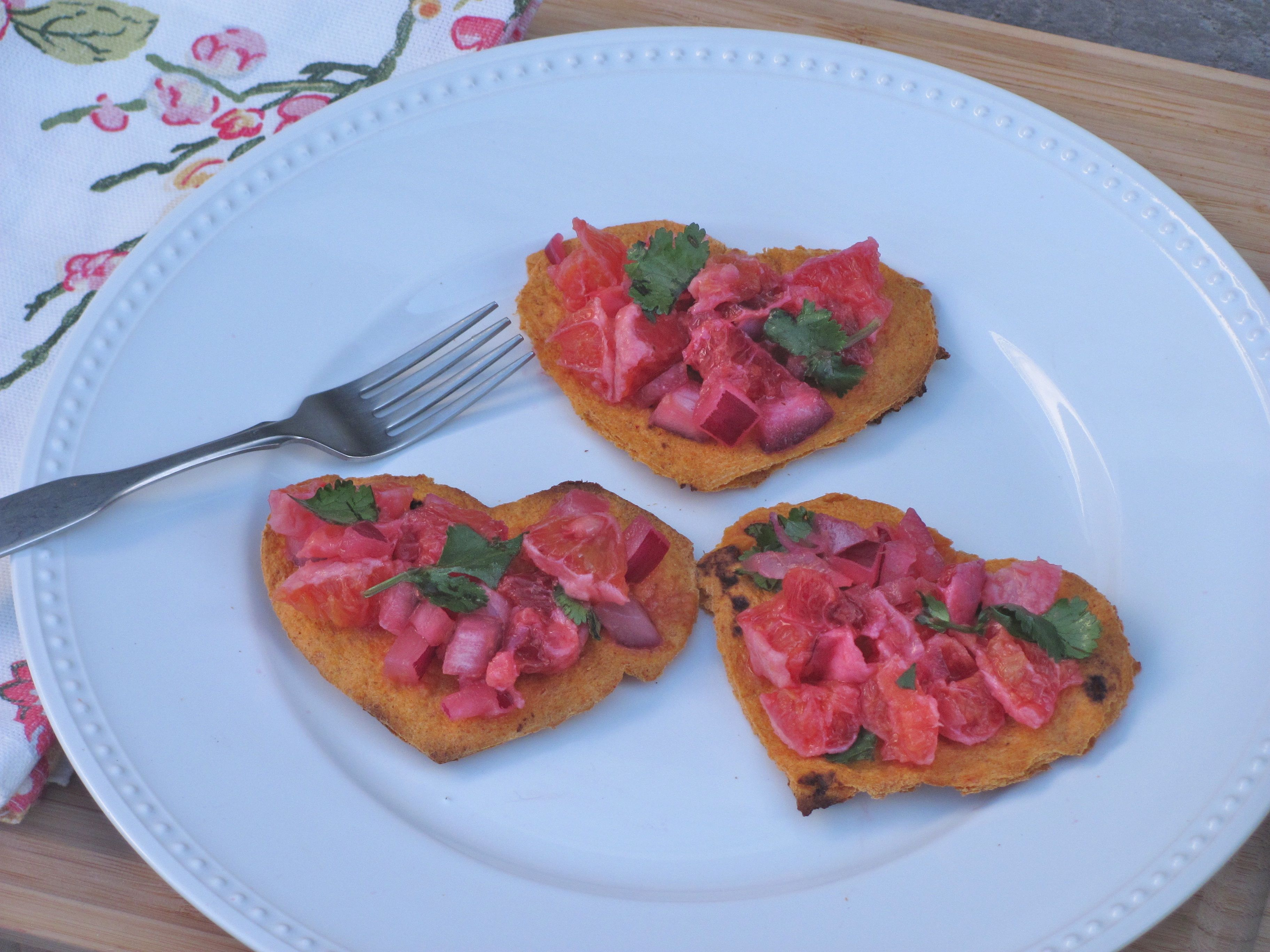 heart shaped bruschetta and goat cheese appetizer valentines